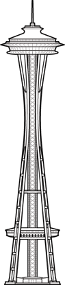Space Needle Outline